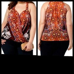 NWT INC Boho Sleeveless Blouse Size 2X